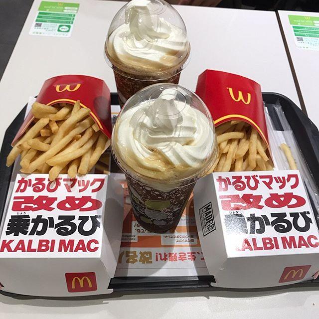 【優待ディナー】マクドナルド「かるびマック」「開運シトラスコーラフロート」「ポテトL」を頂く!!