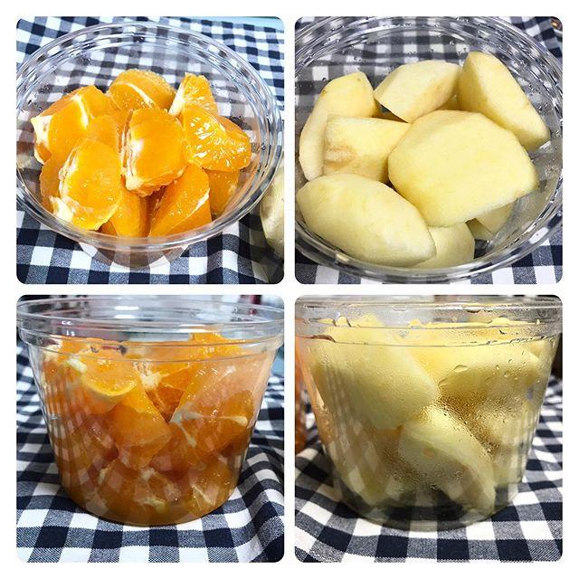 【ReduceGo】菜果さんより「清見タンゴール」「カットりんご」頂きました❣️