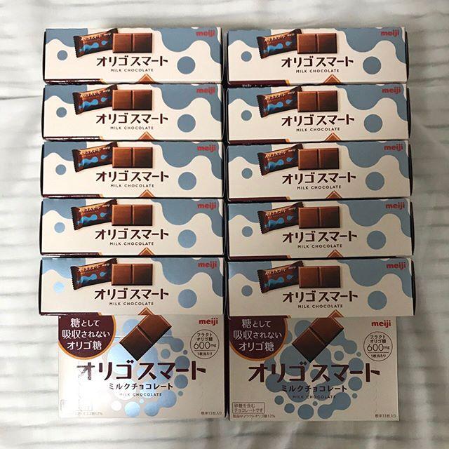 【モニター】フラクトオリゴ糖が嬉しいチョコ「オリゴスマート」12箱到着しました❣️