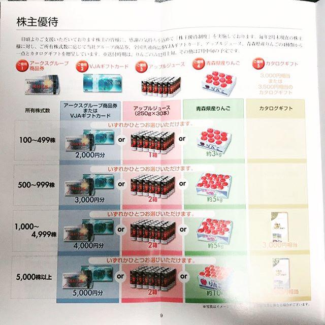 【2月優待】(株)アークスより選べる株主優待のお知らせ が到着しました❣️
