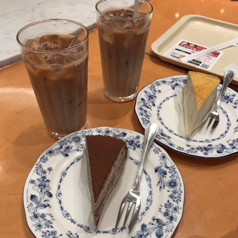 【優待カフェ】ドトール「パリパリチョコミルクレープ」「アイスカフェラテ M」を頂く!!