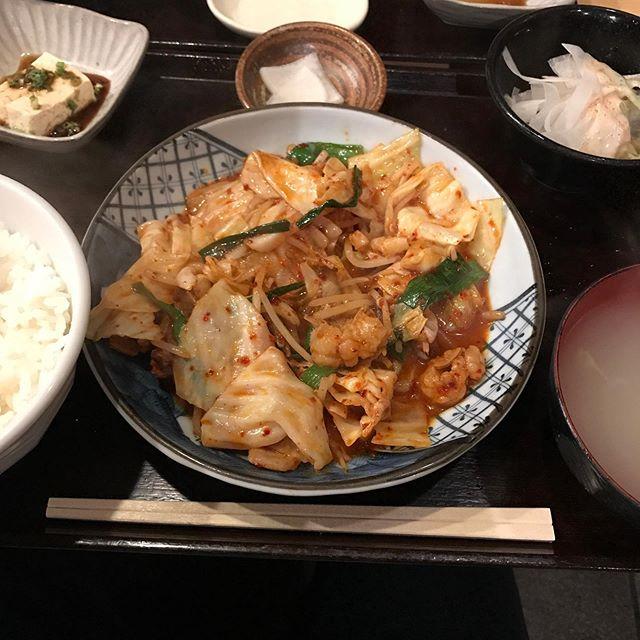 銀座ほんじんでランチ!!<br>スタミナ炒め定食を頂く❣️