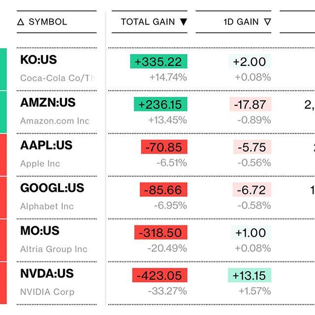 2018年7月11日から始めた米国株投資<br>約1年という事で成績を備忘録🙃