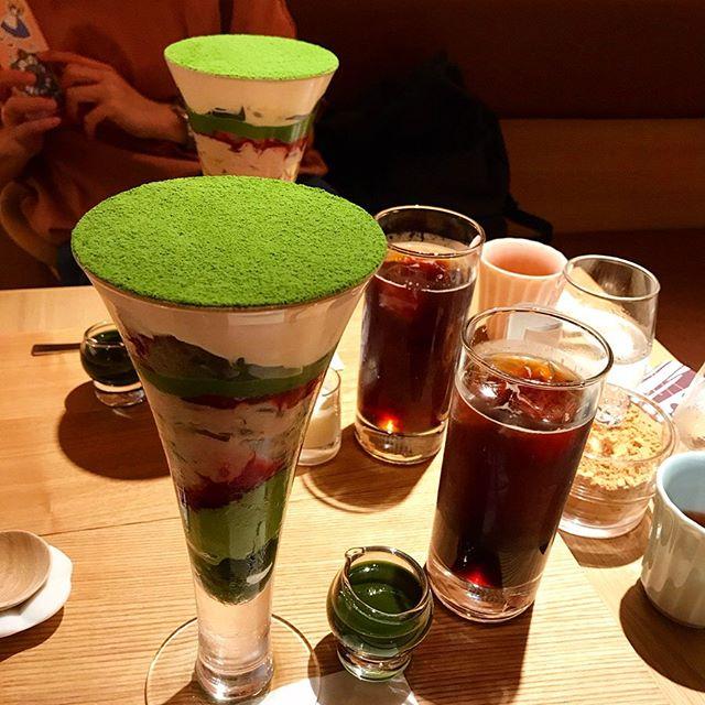 【吉祥菓寮】華やぎおにぎりプレートと京菓抹茶パフェを頂く❣️