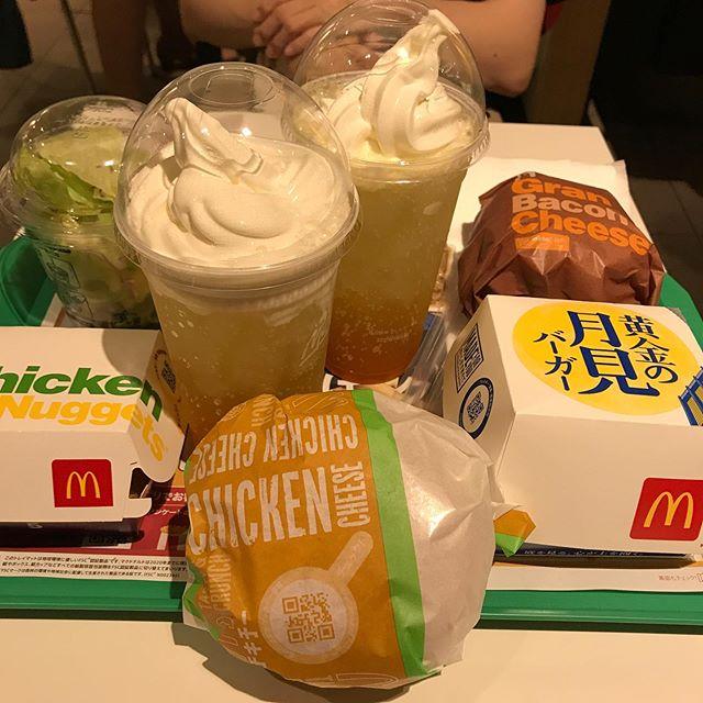 【優待ディナー】マクドナルドで「黄金の月見バーガー」を頂く❣️