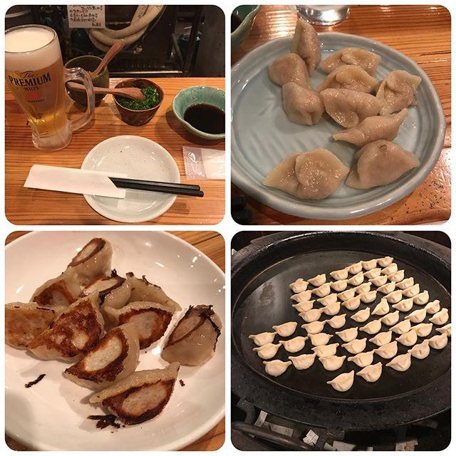 【福岡旅行】博多名物 一口餃子<br>焼き餃子、水餃子10個と生ビール😋