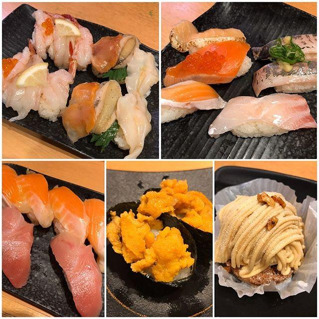【優待ディナー】かっぱ寿司🍣で期間限定メニューを中心に頂きました😋<br>デザートの「秋の彩り和風パフェ 芋ようかんブルュレとわらび餅添え」がめちゃ美味い😋
