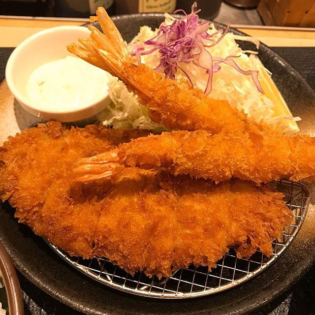 【優待ランチ】松のやで「ロースかつ&海老フライ定食」を頂く❣️