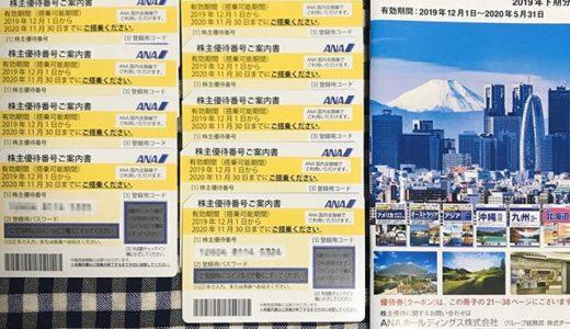 【2019年9月優待】ANA国内線ご優待券 11枚<br>ANAホールディングス(9202)より到着しました❣️