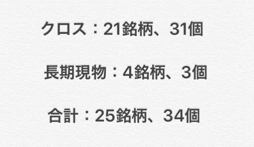 【2019年12月】クロス取引21銘柄31個、長期現物4銘柄3個、合計34個獲得❣️