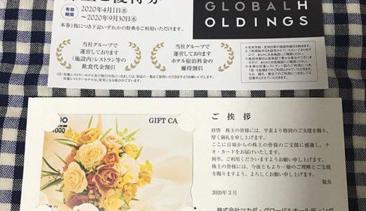 【2019年12月優待】クオカード 1,000円分<br>ツカダグローバル(2418)より到着しました❣️