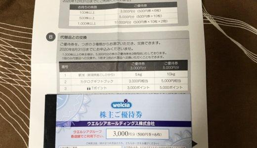 【2020年2月優待】株主ご優待券 500円×6枚<br>ウエルシア(3141)より到着しました❣️
