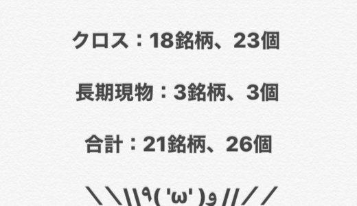 【2020年6月権利獲得の記録】クロス 18銘柄 23個、現物 3銘柄 3個‼️<br>合計 21銘柄 26個獲得しました‼️