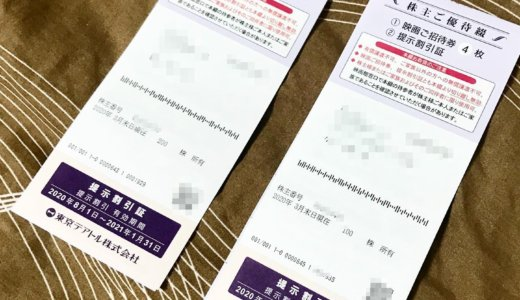 【2020年3月優待】株主優待綴 映画ご招待券 12枚<br>東京テアトル(9633)より到着しました❣️