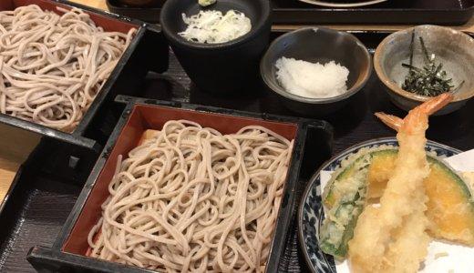 【優待ディナー】ゆめあん食堂で「海老天おろし二八せいろそば 麺大盛とあご出しうどん」を頂く😋