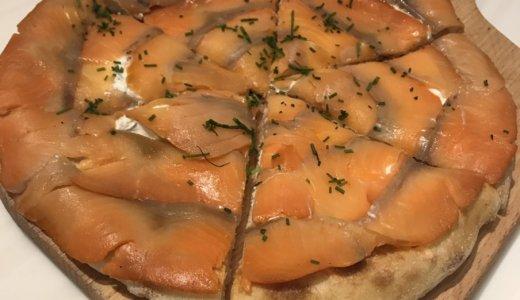 【優待ディナー】WP Pizza by Wolfgang Puckで「ウルフギャングスモークサーモンピザ🍕」「ハワイアンピザ とブルーチーズとはちみつのピザ のハーフ&ハーフ🍕」を頂く😋