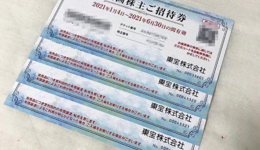 【2020年9月優待】映画株主ご招待券 4枚<br>東宝(9602)より到着しました❣️
