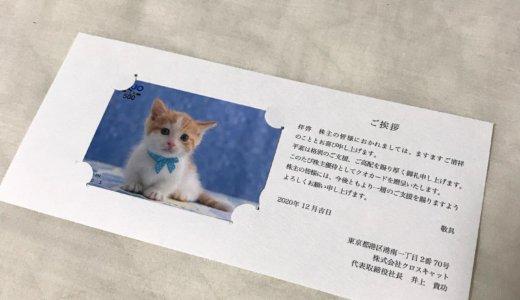 【2020年9月株主優待】クオカード 500円分<br>クロスキャット(2307)より到着しました❣️