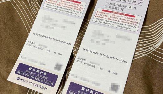 【2020年9月優待】株主優待綴 映画ご招待券 12枚<br>東京テアトル(9633)より到着しました❣️