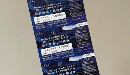 【2021年1月株主優待🎁】株主映画ご招待券 30枚<br>東京楽天地(8842)より到着しました❣️