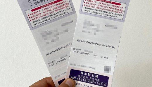 【2021年3月株主優待🎁】株主優待綴 映画ご招待券 12枚<br>東京テアトル(9633)より到着しました❣️