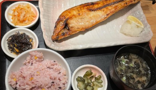 【株主優待ランチ🍽】和食レストラン天狗で「真ほっけの開き 半身セット」を頂く❣️